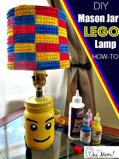 #DIY Lego #Minifigure Mason Jar Lamp +Fabric #Lego Brick lampshade Tutorial http://t.co/e4y5sm3DBJ #Crafts #legoideas http://t.co/YMazEk8h7z