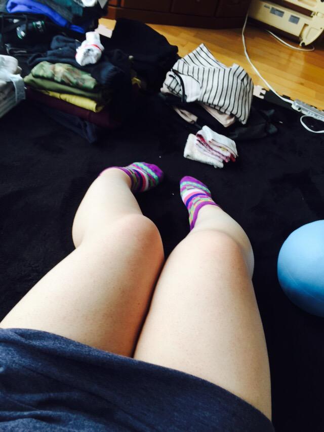 太い足…(´・ε・`)
