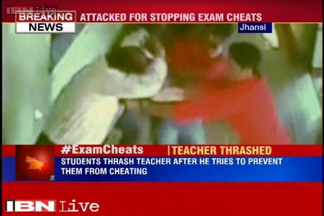 Prasanto K Roy (@prasanto): UP students beat the crap out of their prof. for trying to prevent their cheating in exam http://t.co/rTGOyavZhM http://t.co/E7eW4LwRYi