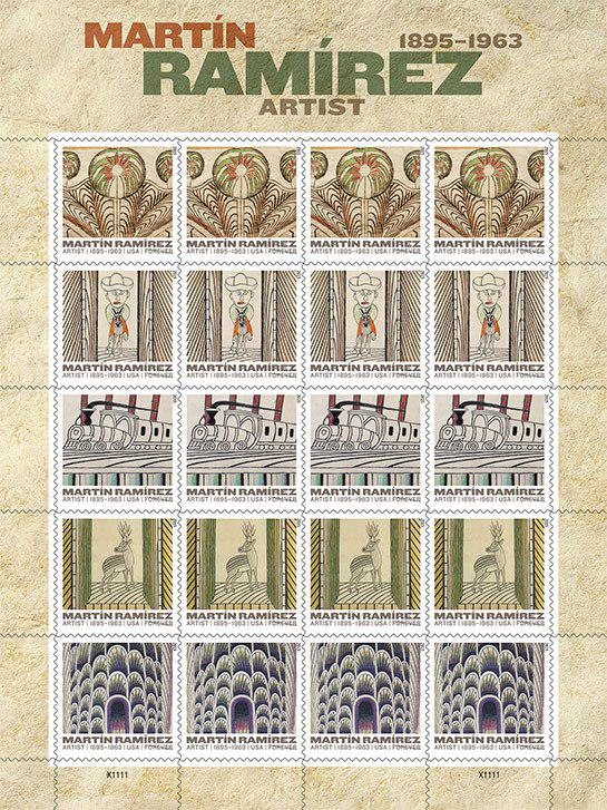 On March 26 @USPS releases stamps celebrating outsider artist Martín Ramírez. Via @ArchDigest http://t.co/whwxOpftLA http://t.co/w348dqXGdO