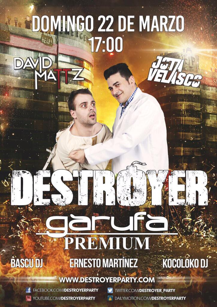 Mañana en @grupogarufa  @Destroyer_Party @DavidMattz @Jota_velasco #Destroyer http://t.co/fPYuIwgC7D