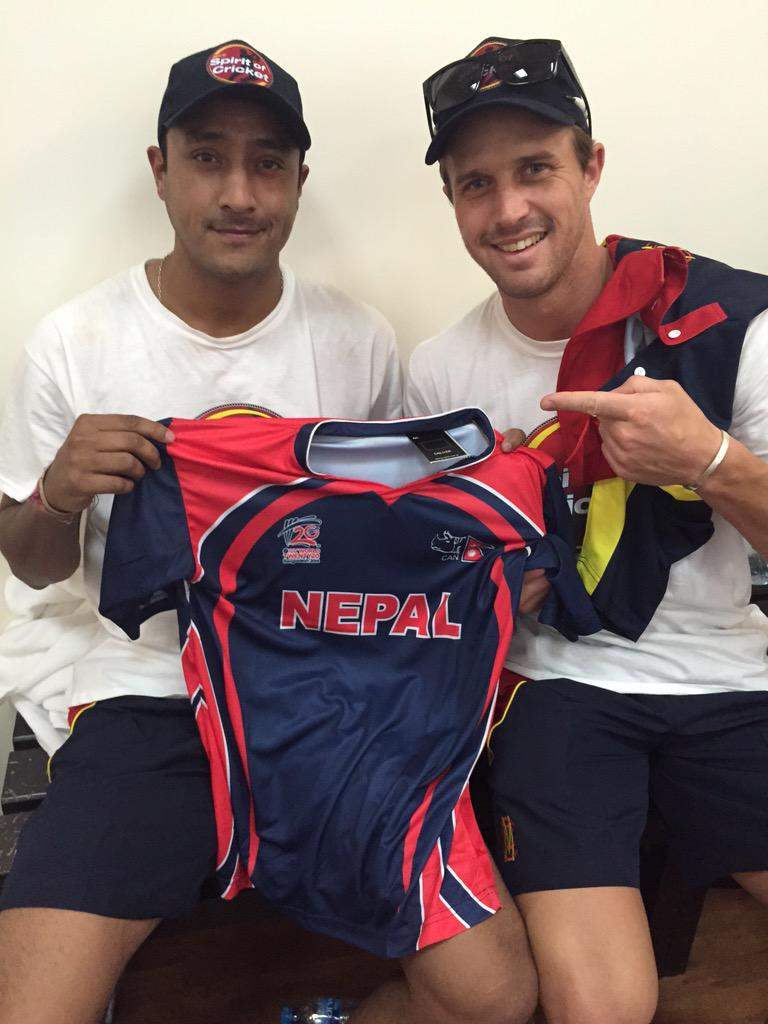 Really enjoyed having @paras77 with us over the past week. A Top man! look forward to seeing Nepalese cricket grow http://t.co/tfuw039FwO