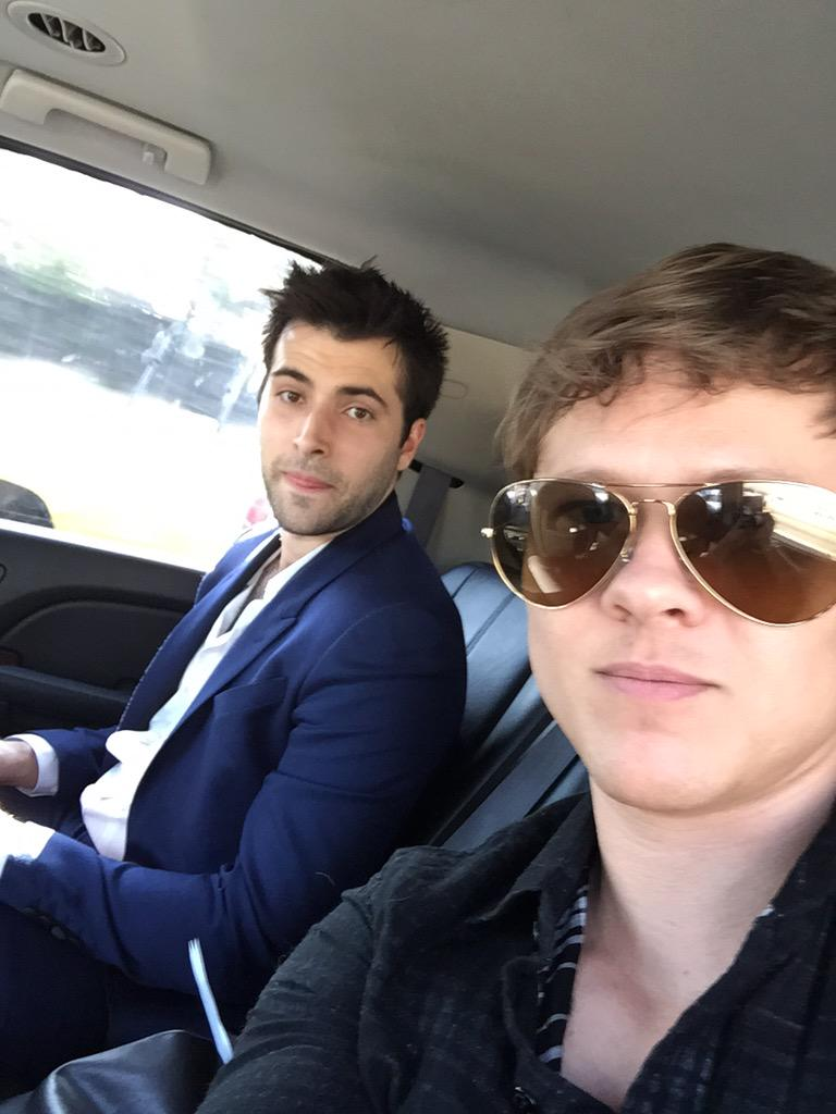 .@freddiemsmith @ChristopherSean and I are en route to the 26th annual #GLAAD Media Awards!  #Days @nbcdays http://t.co/xb7syCnkSD