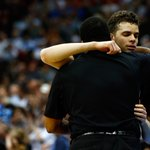 Emotional father-son moment for R.J. Hunter and Ron Hunter, as two embrace at end of Georgia State's tournament run.