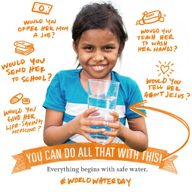 748 million ppl need safe water, life-saving health lessons & Christ's hope. RT to make a big #WorldWaterDay impact! http://t.co/yg7oSzkr1e