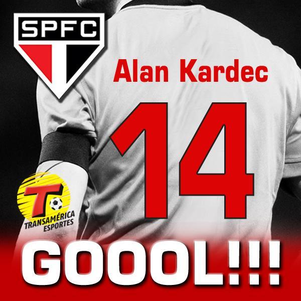 GOLLL DO SÃO PAULO!!! Aos 15 minutos do primeiro tempo, Alan Kardec marca. São Paulo 2 x 0 Marília. http://t.co/22cNFmb0yP