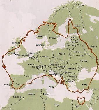 This shows exactly how big Australia is.... Mad Ted! http://t.co/TTxVcryPVR