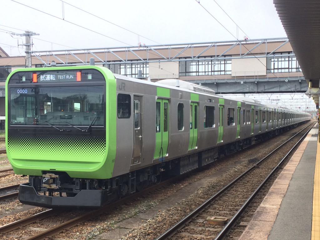 これがベルマーレトレイン←違w RT @powerskyaccess: 試6423M 山手線E235系トウ01編成 試運転 11:24に新津駅到着。 http://t.co/oRFwS4WLmu