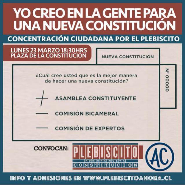 Mañana movilización nacional por un #PlebiscitoAhora , para que nunca más decidan sin nosotros! ✊ http://t.co/lb8Z4NVzuv