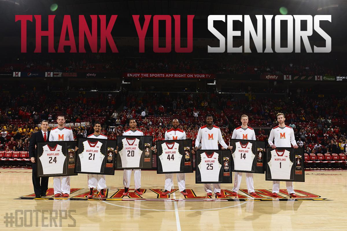 Thank you, to this very special senior class, for a season we will never forget. #GoTerps #ThankYouSrs http://t.co/hh8z2jRCzg