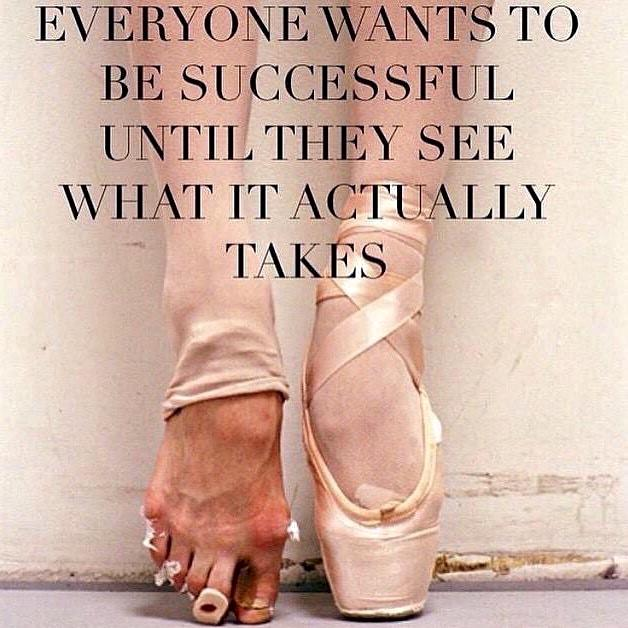 Everyone wants to be successful until they see what it actually takes. http://t.co/mmFotBRhDa