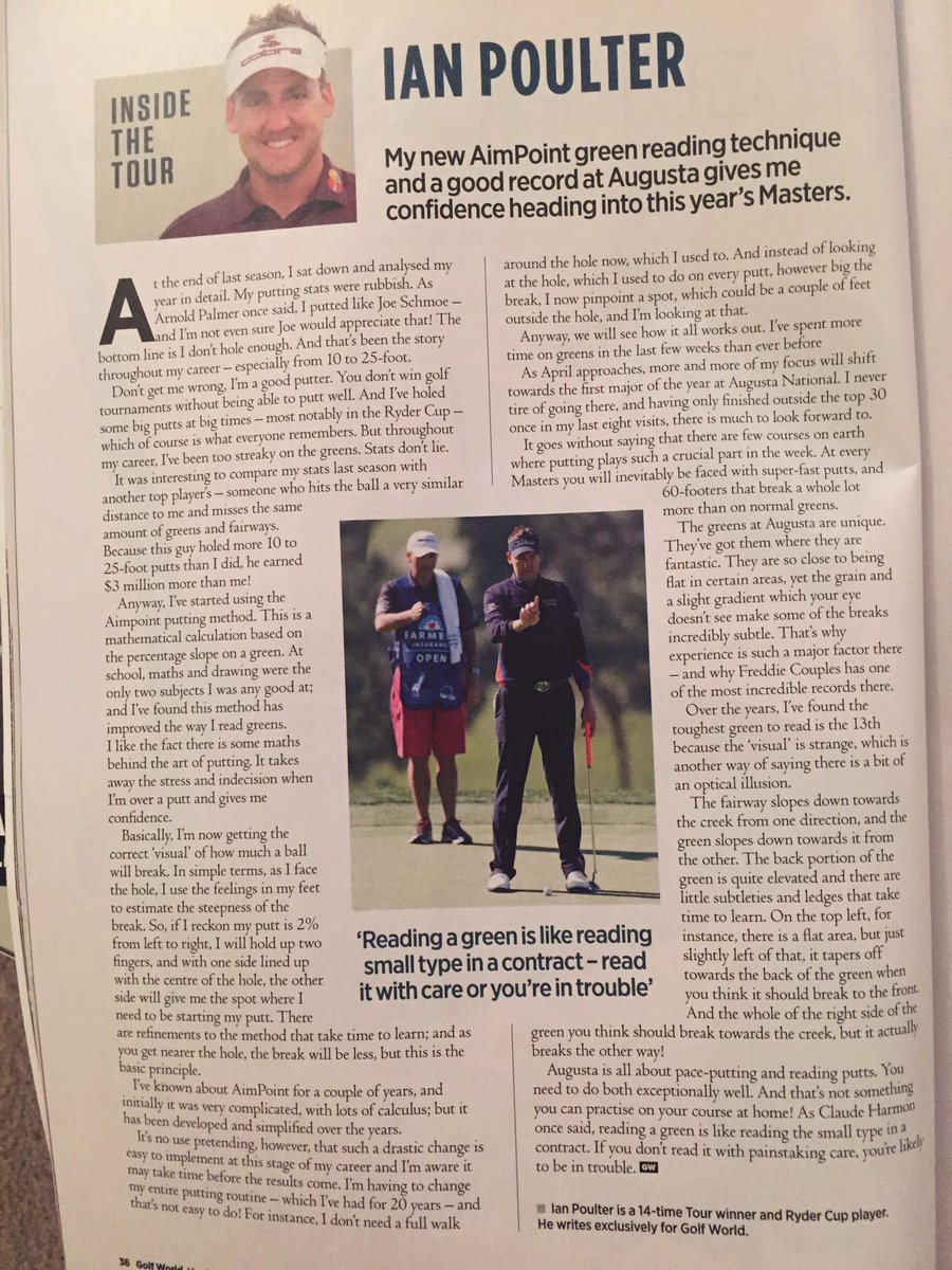 Well worded article on AimPoint and The Masters from @IanJamesPoulter in @GolfWorld1 http://t.co/DO9dbcwewz
