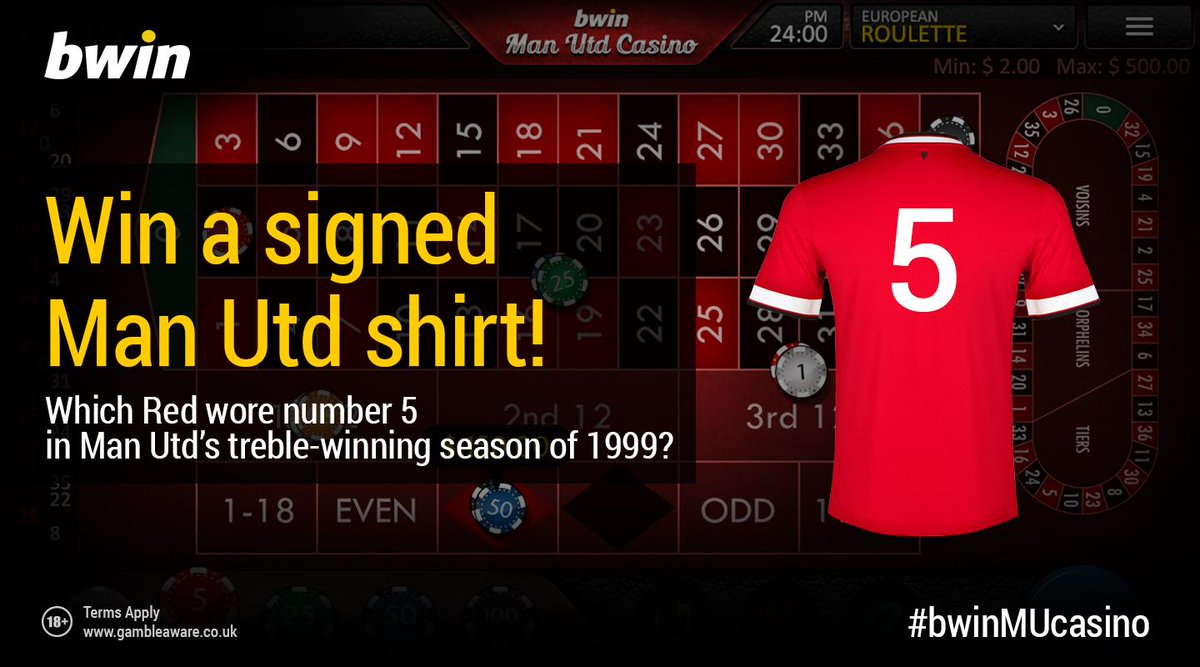 For a chance to win a Man United shirt SIGNED by Wayne Rooney, RT & Reply with your answer using #bwinMUcasino http://t.co/55pZlnSNWr