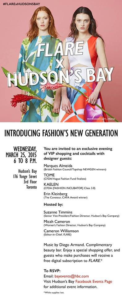 Toronto friends! Come see me this Wednesday at @hudsonsbay Yonge Street! http://t.co/VZUeX3vVjD