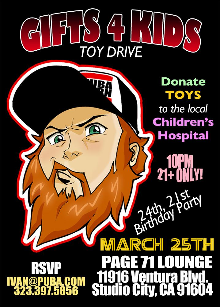 Dont forget that this wednesday  we are doing another Toy Drive event in Studio City. Give back for once or twice http://t.co/BOXJ4qC1hi