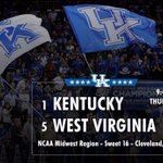 RT @KentuckyMBB: Get your rest on Thursday, #BBN. We will need you loud and rested when we take on West Virginia. http://t.co/oJjs8QXKBB