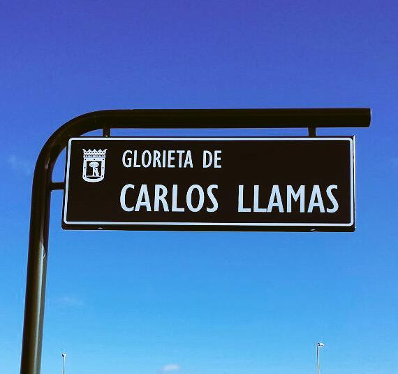 Este jueves se inaugura oficialmente la Glorieta de Carlos Llamas en Madrid. En su barrio y cerca de la Peineta. http://t.co/Y36zFUBkzi