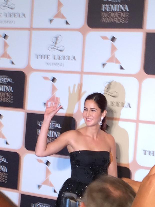 And @katrina arrives  #LPFWA2015 with @sharmashradha http://t.co/KiB0mfOpVr