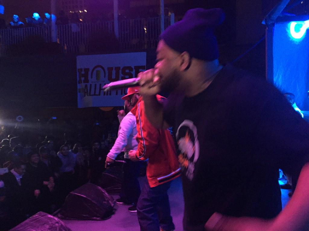 Here is @Raekwon @GhostfaceKillah & @REALCAPPADONNA they completed tore down the #HouseOfAllHipHop @SXSW stage. http://t.co/ooMUx4Uk6n