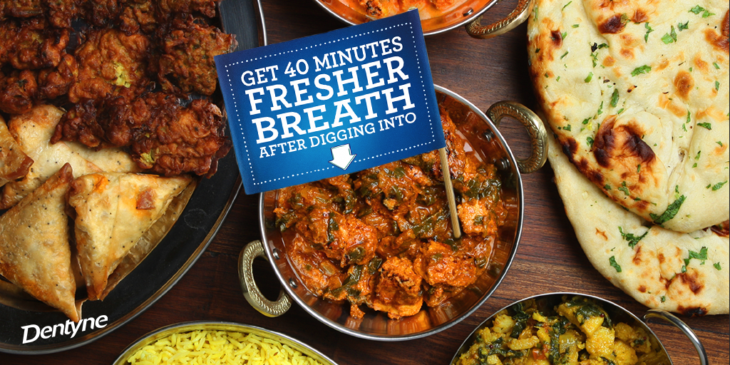 No matter your palate, Dentyne will keep your breath fresher for 40 minutes after chewing. #FollowFood http://t.co/J4P8uXpJUc