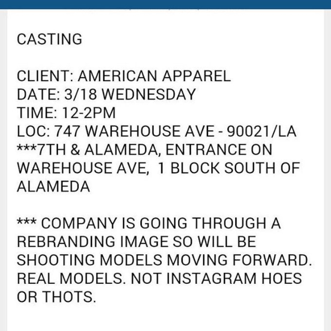Shout out to @PhotogenicsLA for sending this sick email about AA models. Go fuck yourselves http://t