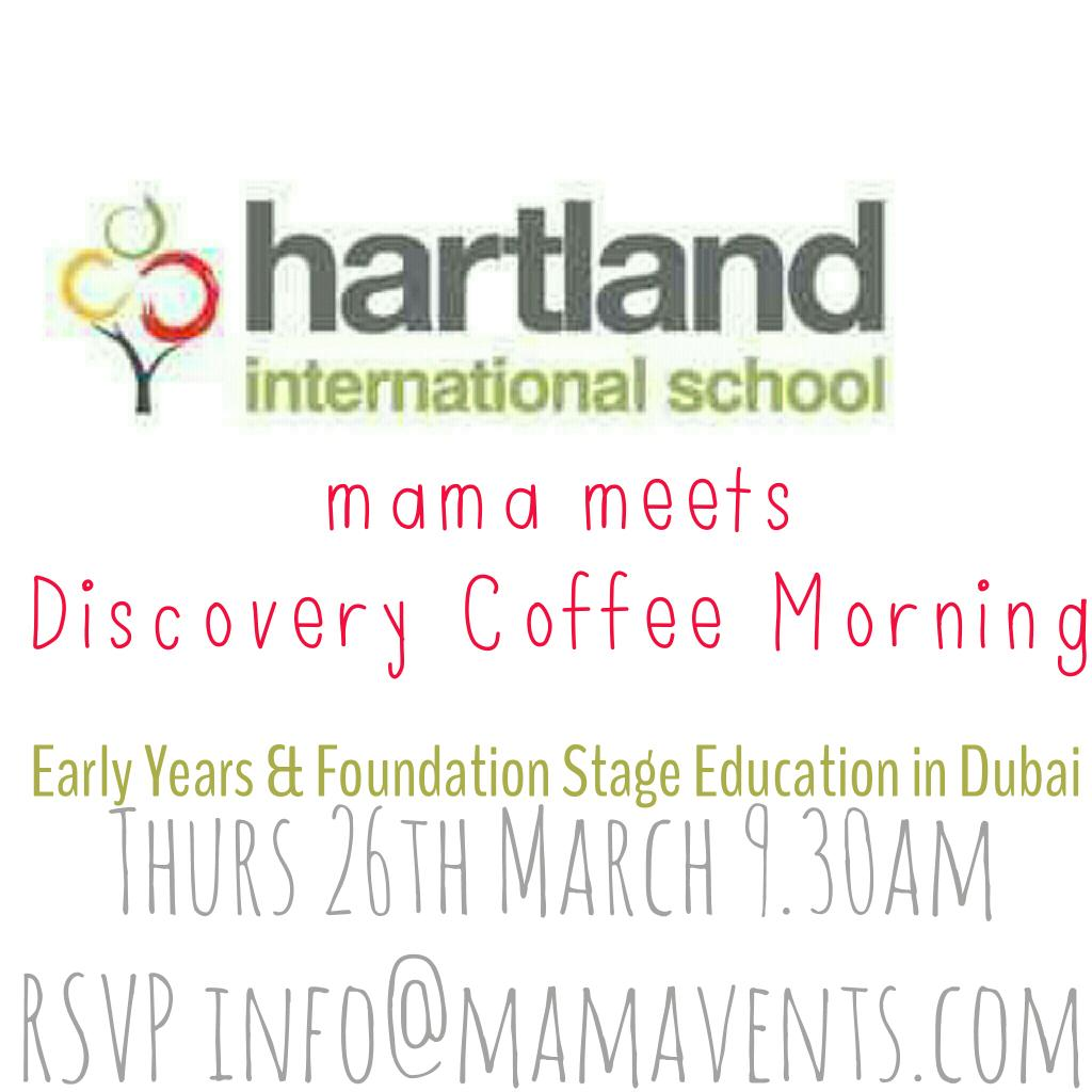 Interested in Early Years & Foundation Stage #Education in #Dubai ? See you THURS coffee morning with @HartlandIntl http://t.co/9KC0UPhdPT
