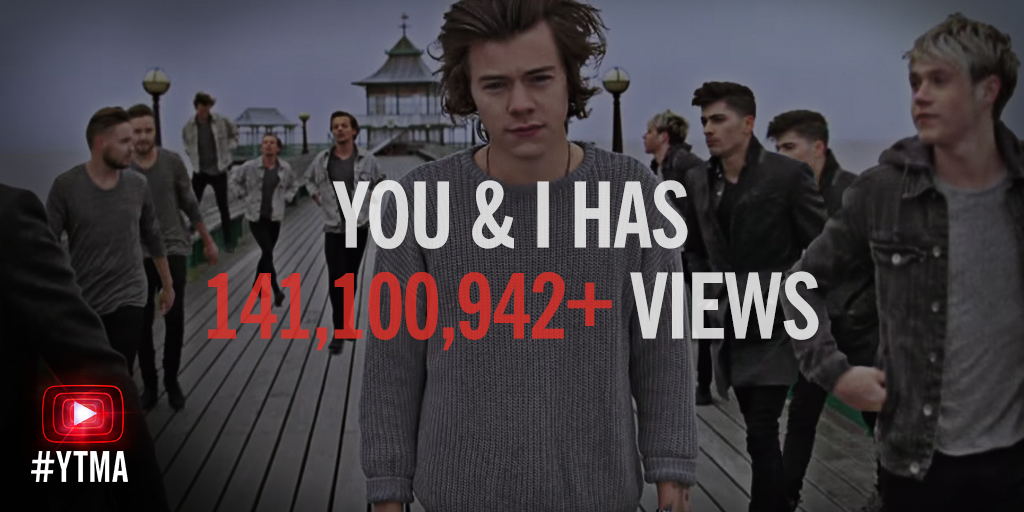 "#YTMA Fact: You've watched over a millennium's worth of @onedirection's ""You & I."" http://t.co/Otp1wOIrC9"