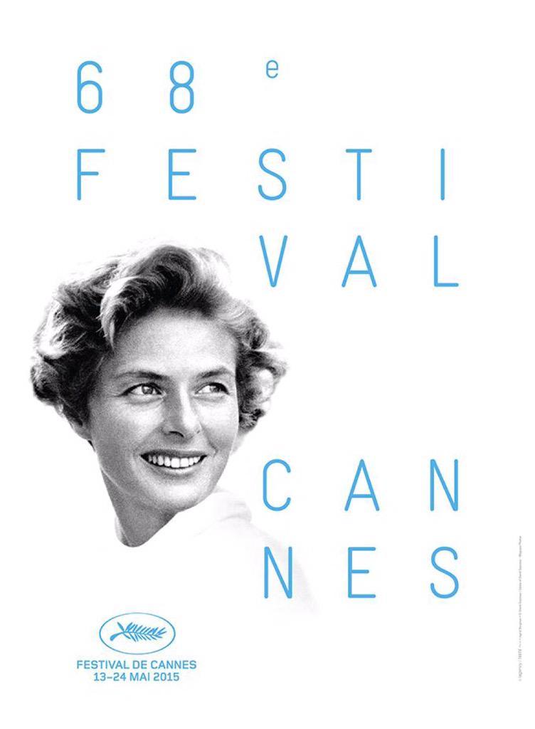 Así de bonito es el cartel del @Festival_Cannes 2015. En él la gran Ingrid Bergman nos sonríe #Cannes2015 http://t.co/fb1HQQbrIk