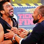 Guess who was mad fun,and more 'in his elements' than me!? @rohitshettyfilm is a RIOT!! #spreadinglaughs #KKKOnColors http://t.co/utlEZRMKDU
