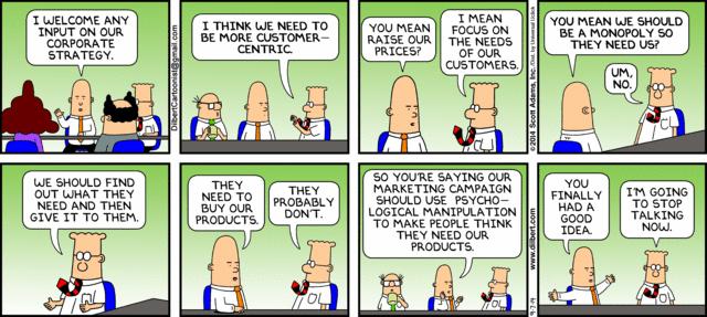 Manipulation vs. Customer Focus - Dilbert-style http://t.co/K7Fy4mJcOj #Neuromarketing #Classic http://t.co/Wb3u66M2ms