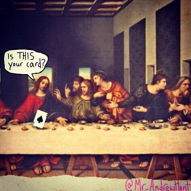 Is THIS your card? #JesusPickUpLines http://t.co/onIuj9cGAW