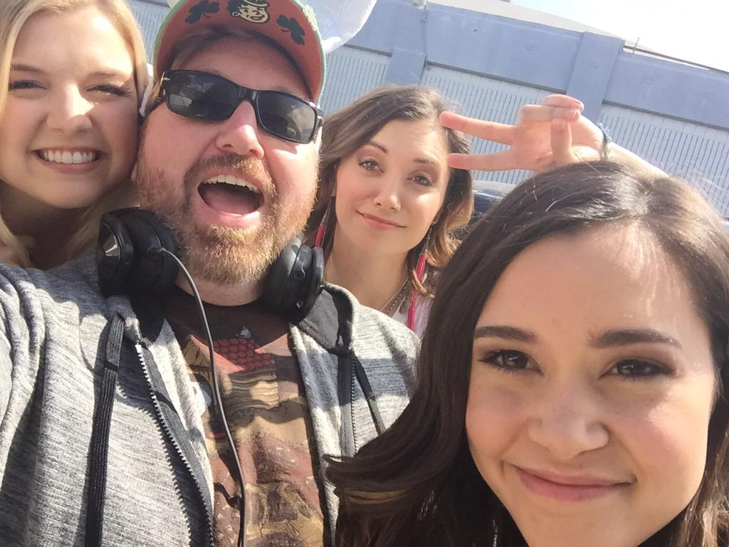 Shooting with my girls on Easter!! Awesome!! @megannicole @AlysonOnTour @therealagbarlow http://t.co/uanuY8RyHN