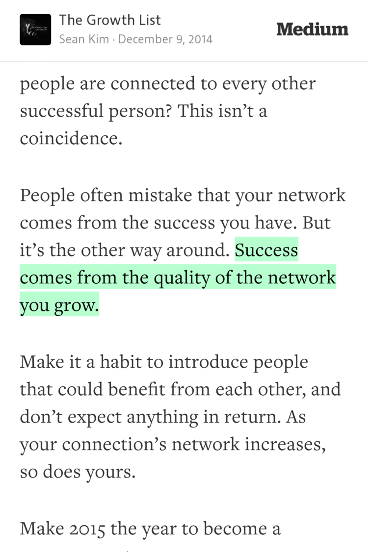 """Success comes from the quality of the network you grow."" —@heyseankim https://t.co/GhjZFr5sxb http://t.co/E2qWPGn7it"
