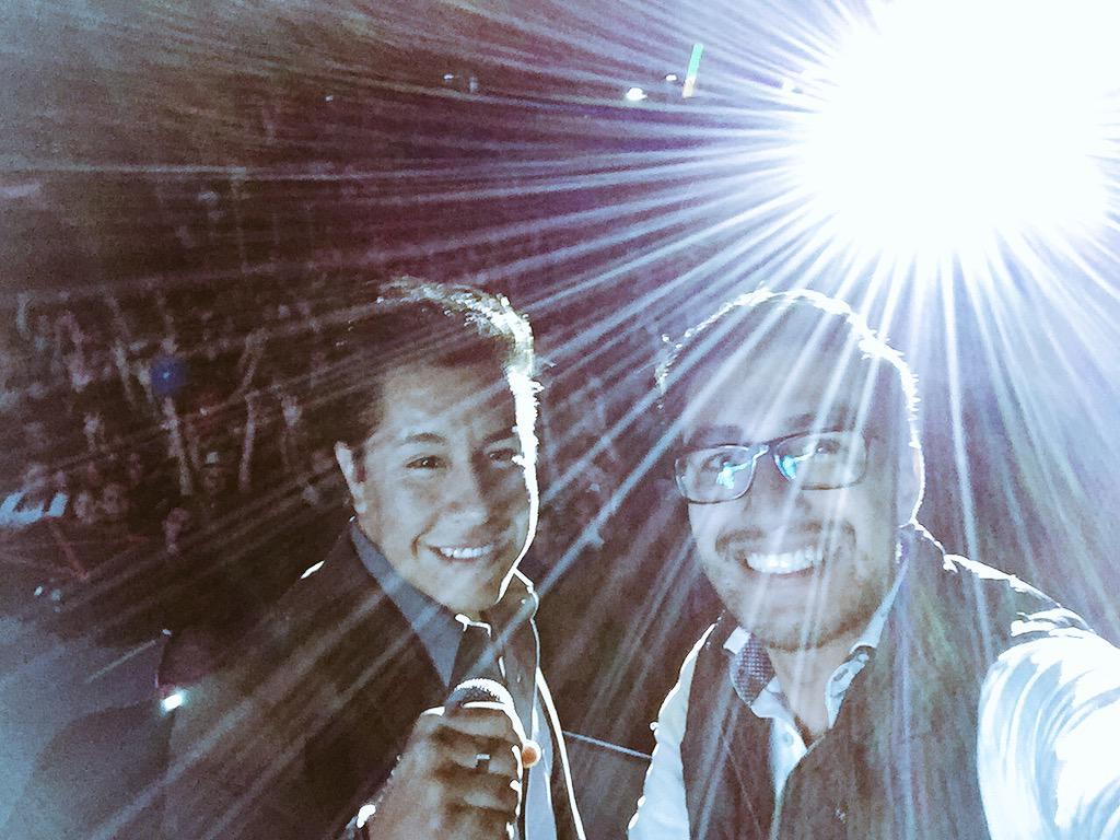 Memo Quintana (@Memo_Quintana): Hoy toco presentar a @DulceMaria en la Feria #Puebla ¡Lleno de verdaderos Fans! http://t.co/pRdbo4joiM