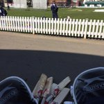 Sun shining at Lord's. Practice before playing Oxford Uni tomorrow. Please, please be this warm! http://t.co/Tllb0MQ2I6