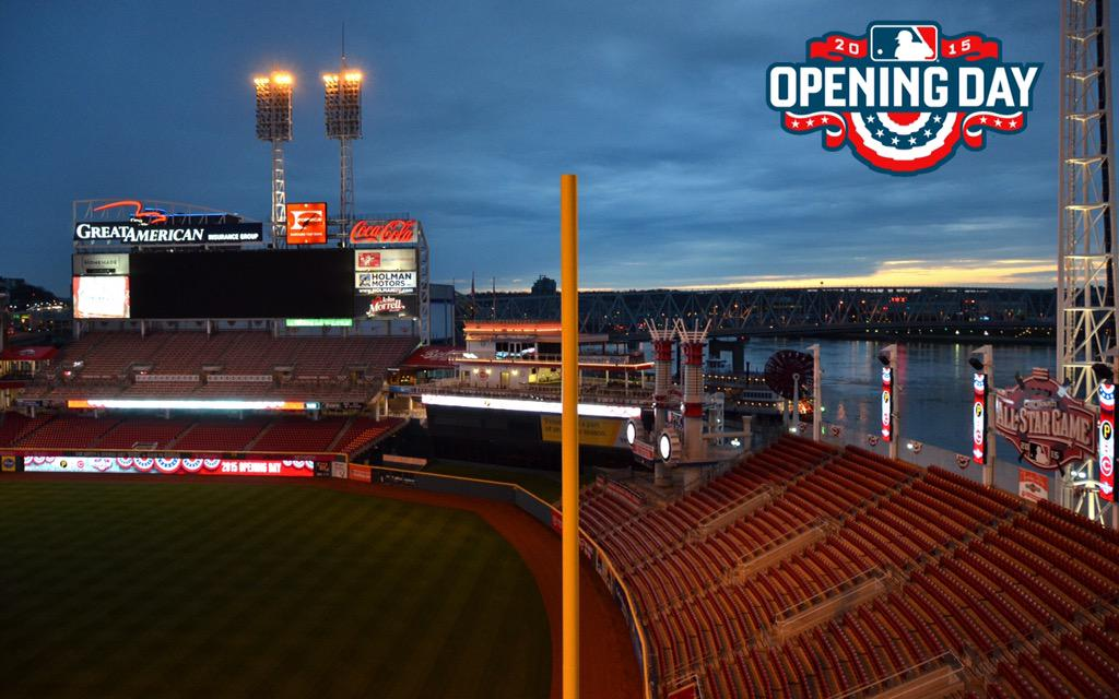 My favorite shot of the year...sun rising over the ballpark on Opening Day http://t.co/ewV4iOBStV