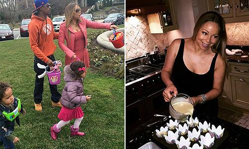 Mariah Carey and Nick Cannon reunited to treat 'Dem Babies' to an Easter egg hunt. Cute pics!