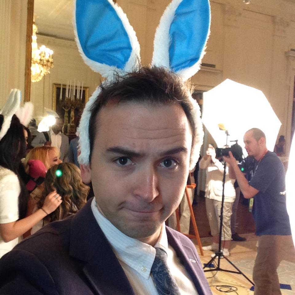 In the East Room @whitehouse while @FifthHarmony takes pics w/ @thetimmyneutron wear bunny ears. Totally Normal http://t.co/xGhQoyBxso