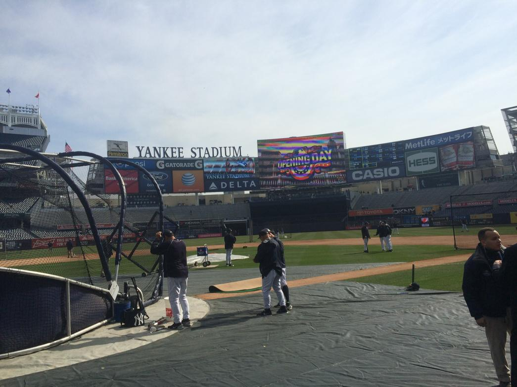 Happy Opening Day from Yankee Stadium! http://t.co/i74BASW7UJ