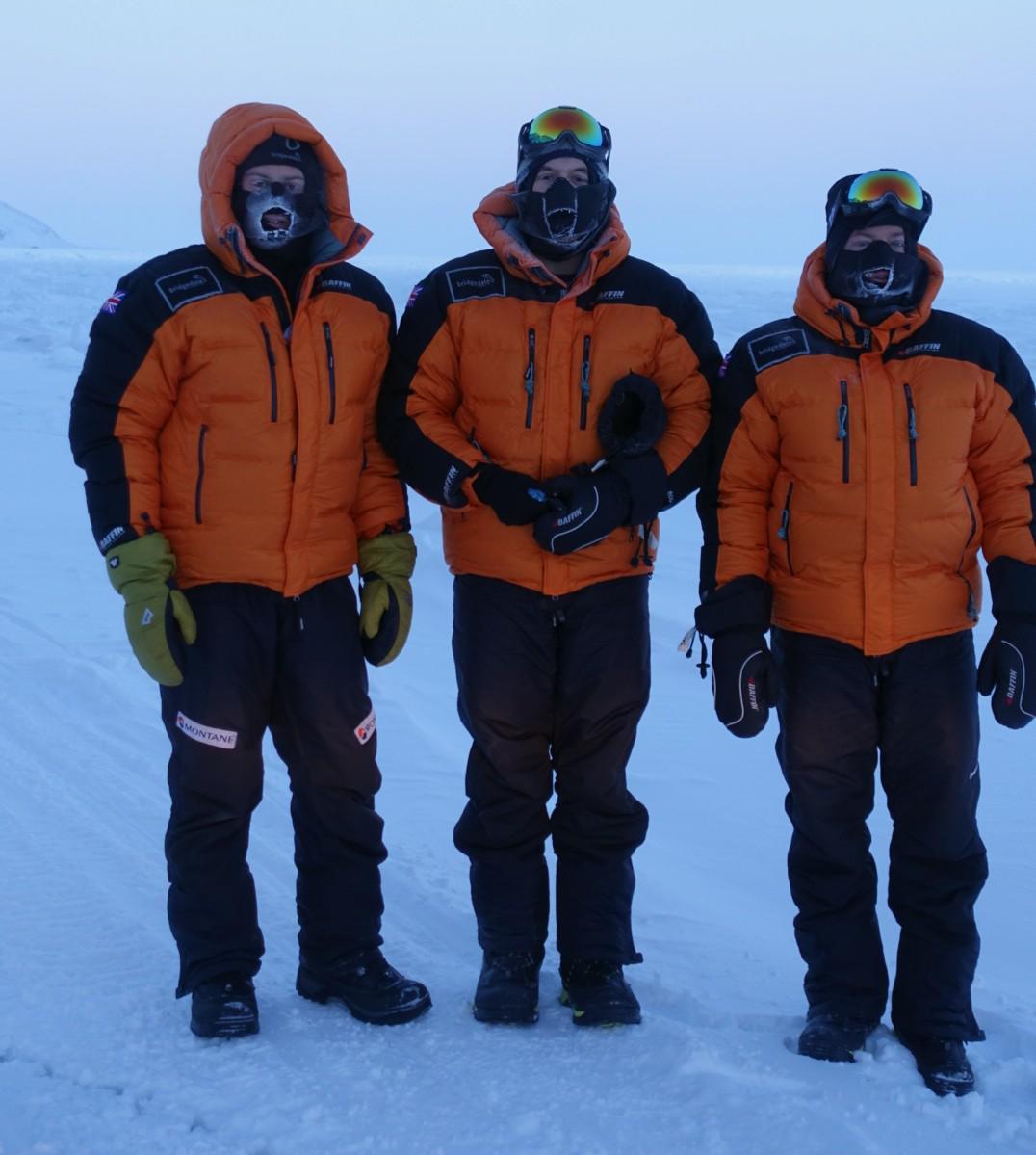 Guess who's who? Jamie, Benno & me earlier in #Nunavut. #WhosWho @BridgedaleSocks @baffinworldwide @bloceyewear http://t.co/CeVZBj90on