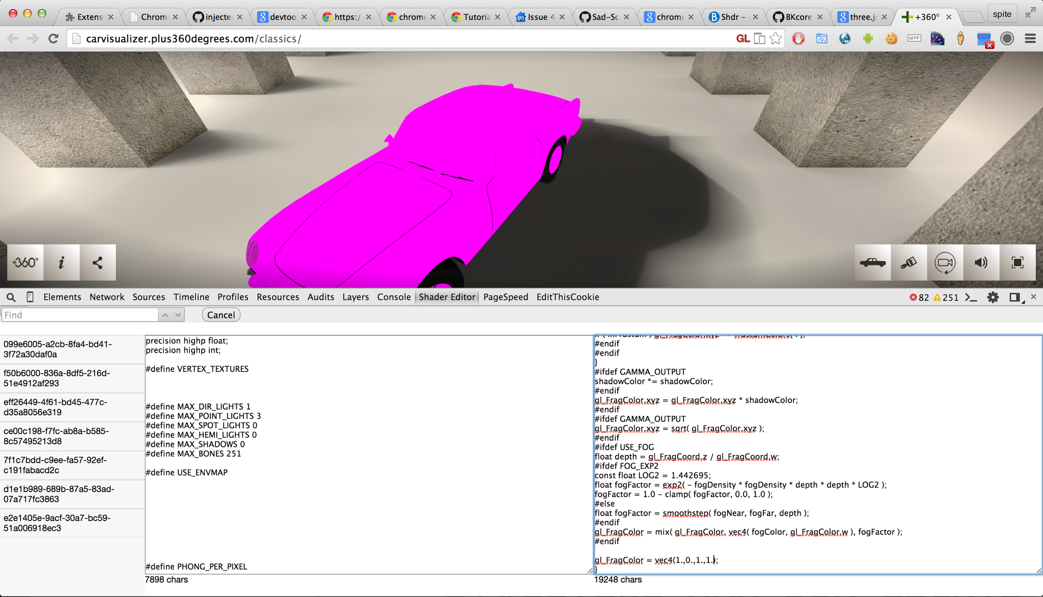 RT @thespite: Almost ready to roll: Chrome DevTools extension to edit WebGL shaders. Edit any GLSL code with live feedback :) http://t.co/pkw85QFIPO