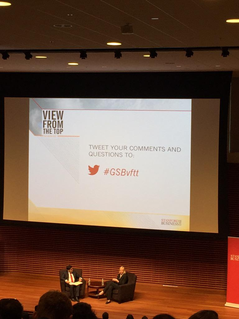 """You'll be more impactful if, instead of trying to fix things, you first focus on what's right."" @MegWhitman #GSBvftt http://t.co/vv82Umqxlg"
