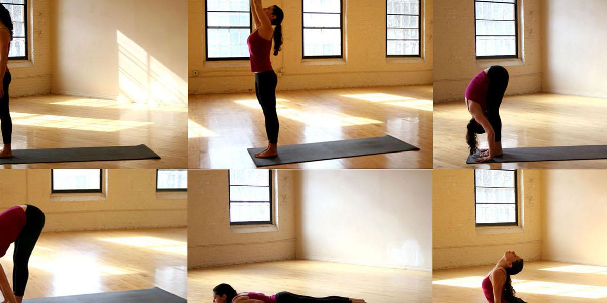 Sun Salutation yoga Sequence http://t.co/wN90wllrDq http://t.co/xN5S5gsNdA