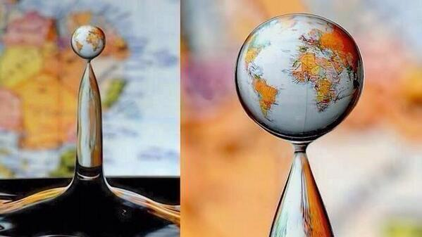 This is a high-speed photograph of a water drop refraction! http://t.co/l5a1KpiZeu