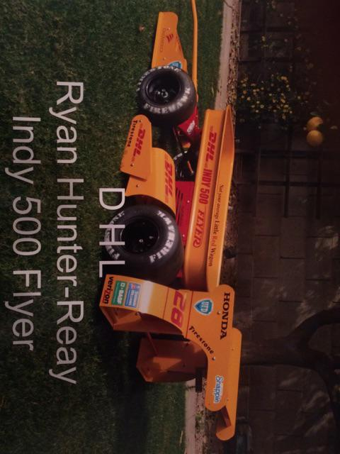 Who's ready for @TheYellowParty Indy? Check out this one-of-a-kind wagon of 2014 Indy500 champion @RyanHunterReay car http://t.co/h0XPJdxmqK
