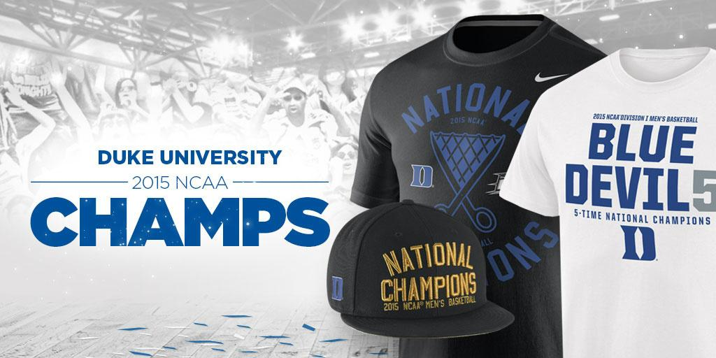 One for the ages. #Duke are your National Champions! Shop for locker room gear here! http://t.co/Q6IEiWpR6c http://t.co/Zck6qx83qk