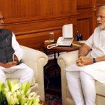 The Chief Minister of Bihar, Shri Nitish Kumar calling on the Prime Minister, Shri @narendramodi in New Delhi http://t.co/1tO6S2GHEA