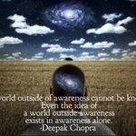 The universe exists in consciousness alone