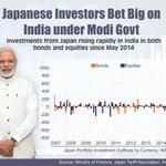Japanese investors trust India under @narendramodi. #TrustBJP #TrustModiSarkaar. Thnx @AbeShinzo @japan @JapanGov http://t.co/DAhTboIT1Q