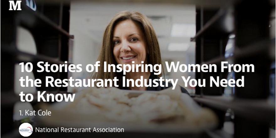 10 stories of inspiring women in the restaurant industry: http://t.co/WmKxf4tFMe @WeRRestaurants #WomensHistoryMonth http://t.co/klht8yikwn